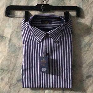 NWT Macy's Club Room grape stripe shirt 15-32/33